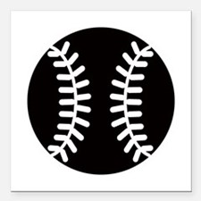 "Baseball Ideology Square Car Magnet 3"" x 3"""