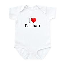 """""""I Love Kiribati"""" Infant Bodysuit"""