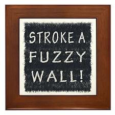 Fuzzy Wall BW Framed Tile
