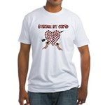 Cupid Has Struck Fitted T-Shirt