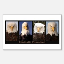 Fantastic Foursome Rectangle Decal