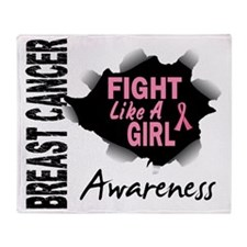 - Breast Cancer Fight Like a Girl Throw Blanket