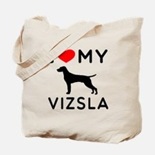 I love My Vizsla Tote Bag
