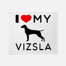 I love My Vizsla Throw Blanket