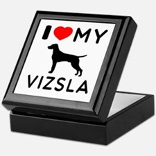 I love My Vizsla Keepsake Box
