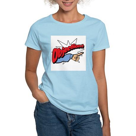 """Objection! [Phoenix Wright]"" Women's Pink T-Shirt"