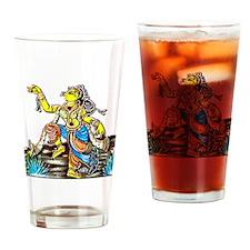 IndiaDancer12x12 Drinking Glass