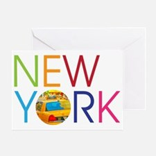 New York Taxi Greeting Card