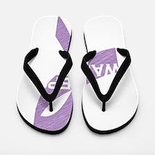 epilepsy awareness_dark Flip Flops