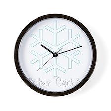Winter Caching Wall Clock