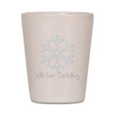Winter Caching Shot Glass