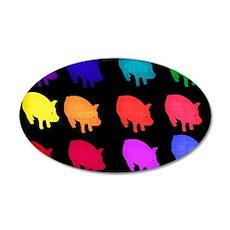 Rainbow Pigs Wall Decal