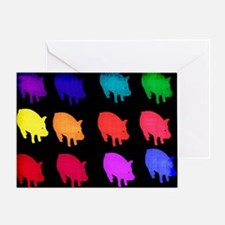 Rainbow Pigs Greeting Card