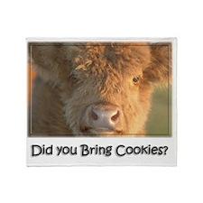 Bring Cookies Throw Blanket