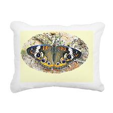 Buckeye Butterfly Calend Rectangular Canvas Pillow