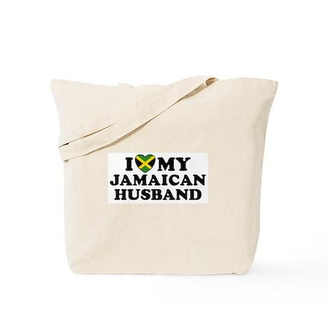 I Love My Jamaican Husband Tote Bag