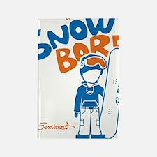 snowboarder_orange Rectangle Magnet