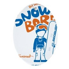 snowboarder_orange Oval Ornament