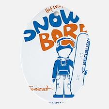 snowboarder_orange Oval Ornament