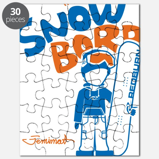 snowboarder_orange Puzzle