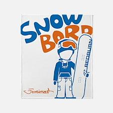 snowboarder_orange Throw Blanket