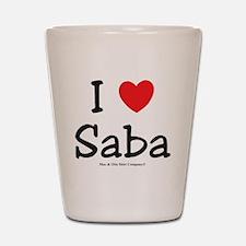 i-heart-saba Shot Glass