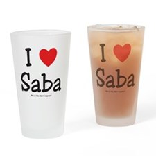i-heart-saba Drinking Glass