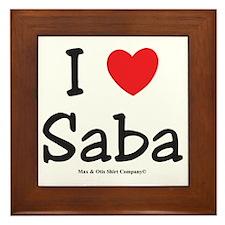i-heart-saba Framed Tile