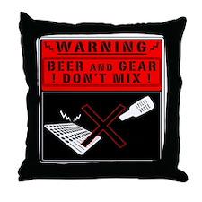 gearbeer Throw Pillow