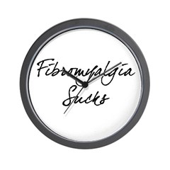 Fibromyalgia Sucks Wall Clock