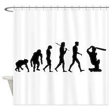 Evolution Of Cricket Shower Curtain