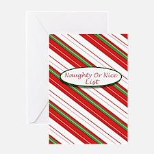 Naughty or Nice3 Greeting Card