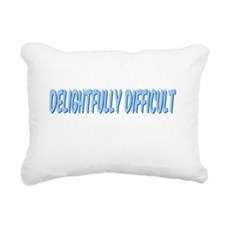 Difficult_dark Rectangular Canvas Pillow