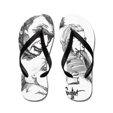 irish writers signed clean large Flip Flops