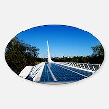 Sundial Bridge Redding, CA Sticker (Oval)
