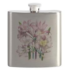 Vintage Pink Lily Flask