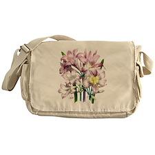 Vintage Pink Lily Messenger Bag