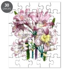 Vintage Pink Lily Puzzle