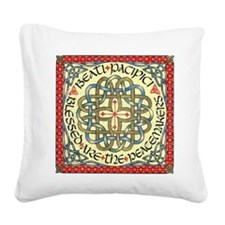 Blessed Are the Peace Makers Square Canvas Pillow