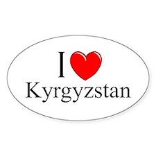 """I Love Kyrgyzstan"" Oval Decal"