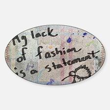 lackoffashion3 Sticker (Oval)