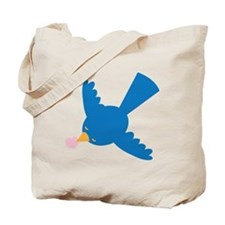 Bluebird fetching a love heart Tote Bag