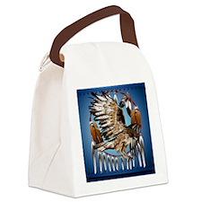 DreamcatcherFlyingHawk Canvas Lunch Bag