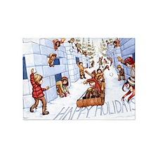 holiday card2 5'x7'Area Rug