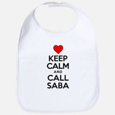 Keep Calm Call Saba Baby Bib