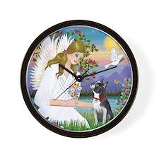 Angel Love (S) - Boston Terrier 3 Wall Clock