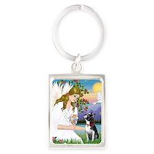 Angel Love (S) - Boston Terrier  Portrait Keychain