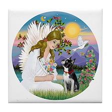 R-Angel Love - Boston Terrier 3 Tile Coaster