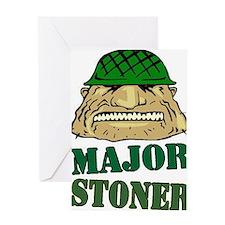 MajorStonerLogoLarge Greeting Card