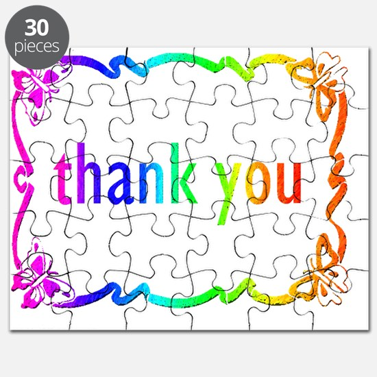THANK YOU  note cards BUTTERFLIES Puzzle
